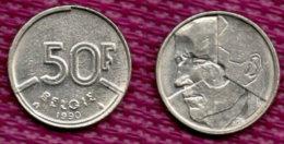BELGIEN 50 Francs 1990. - 08. 50 Frank