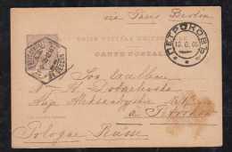 Portugal 1905 Stationery Card 20R Carlos LISBOA To PETRIKOW PIOTRKOW PETRIKAU Poland Russia - Brieven En Documenten