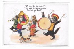 7792 - CPA Fantaisie, Groupe Musical De CHATS  Carte Anglaise - Cats