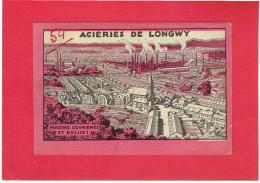 LONGWY MAISONS OUVRIERES ET EGLISES DESSIN DE P. GROSJEAN CARTE EN TRES BON ETAT - Longwy