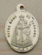 Mada-115 Médaille Ancienne En Laiton N.D. De Paracol - Religione & Esoterismo