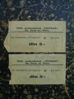 Tickets-ulaznice-TDS,podruznica ,,Vintgar,,-Sp.Gorje Pri Bledu-1949  (3132) - Slovenië