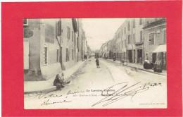MALZEVILLE 1903 RUE SADI CARNOT TRAMWAY CAFE RESTAURANT CARTE EN BON ETAT - Autres Communes