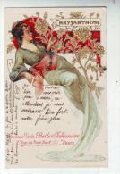 CPA  Style MUCHA Belle Jardinière  Chysanthème - Mucha, Alphonse