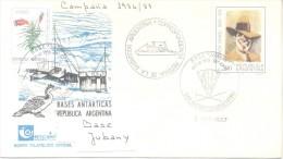BASE JUBANY CAMPAÑA 1986/87  CARLOS GARDEL  AÑO 1987 BASES ANTARTICAS DE LA REPUBLICA ARGENTINA - Sellos