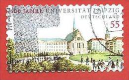 GERMANIA USATO - 2009 - 600 Jahre Leipzig University - Università Di Liegi - 55 Cent - Michel DE 2747 AUTOADESIVO - [7] Repubblica Federale