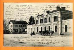 MNS-24  Annemasse La Gare, Attelage. Cachet 1908, écrite Des Deux Côtés - Annemasse