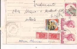 PACCO POSTALE ORDINARIO,1981, AFFRANCATURA MISTA £.2950,POSTE BITONTO - FIRENZE - 1981-90: Storia Postale
