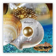 2015 Pearls Sea Shell Marine Life Fish MS Stamp Malaysia MNH - Malaysia (1964-...)
