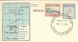 COLOMBIA 1956.04.05 [839&841-1] F.D.C.: Departamentos De Colombia, Intendencia De San Andrés Y Providencia. (2) - Colombia