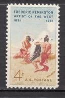 USA, MNH, Indiens D´amérique, Amérindien, Amerindian, Signaux De Fumée, Smoke Signal, Art, Peinture, Painting, Feu, Fire - Moderne