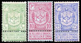 !■■■■■ds■■ Belgium 1894 Scott #76-78* Complete Set MH (w0038) - 1893-1907 Coat Of Arms