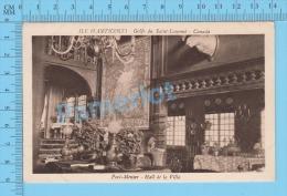 Ile Anticosti Quebec ( Port-Meunier  Hall De  La Villa  ) Post Card Postcard 2 Scans - Quebec