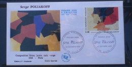 FDC  SERGE POLLIAKOFF  1988   244 - FDC