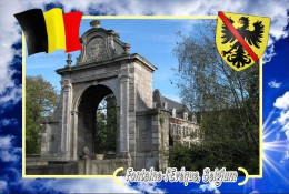 Postcard, Cities Of Europe Collection, Fontaine-l'Evêque, Belgium - Landkaarten