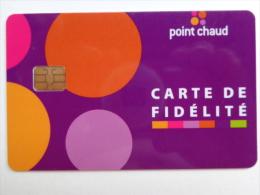 CARTE � PUCE DE FID�LIT� - POINT CHAUD -BELGIQUE