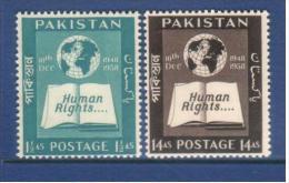 Pakistan 1958 Human Rights   MNH - Pakistan