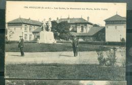N°1290 - Houilles  - Les écoles,  Le Monument Aux Morts, Jardin Public    - Raw49 - Houilles
