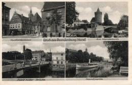 CPA GRUSS AUS BRANDEBURG HAVEL. Mairie, Pont, Tramway, Fleuve. - Brandenburg