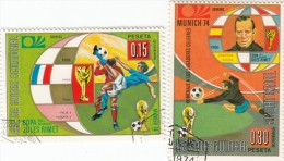 Guinea Eq.- 2 Val. Used - Coppa Del Mondo
