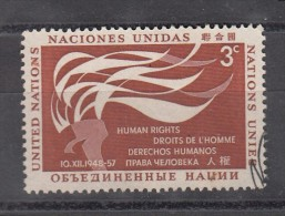 UNITED NATIONS (NEW YORK), 1957 Human Rights , 1 V,  MNH, (**) - New York -  VN Hauptquartier