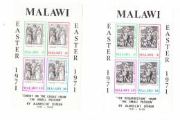 Malawi 1971 Engravings By Albrecht Durer 2 S/S MNH - Malawi (1964-...)