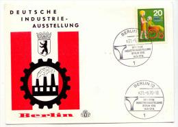 ALLEMAGNE - Carte Maximum - 1970 - Industrie-Ausstellung - BERLIN - Duitsland