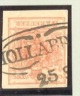 Heimat Österreich N.Ö. Hollabrunn 25/? Mi# 3y MP Stempelrarität - 1850-1918 Imperium
