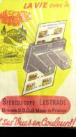 LESTRADE : VINTAGE VUE STEREOSCOPIQUE    111  PARIS 11 : LA TOUR EIFFEL - Visionneuses Stéréoscopiques