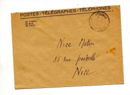 Lettre Franchise Poste  Cachet Pegomas - Storia Postale