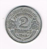 ***  FRANKRIJK  2 FRANCS 1945 C - France