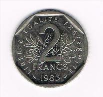 ***  FRANKRIJK 2 FRANC 1983 - France