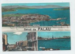Palau (Italie, Sadaigna) :  3 Vues Du Bourg Dont Via Nazionale Et Vue Générale Aérienne En 1960 (animé) GF. - Andere Steden
