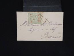 TURQUIE - Enveloppe Pour Brousse - Aff. Plaisant -  à Voir - Lot P8558 - 1858-1921 Empire Ottoman