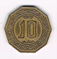***  ALGERIA  10 DINARS  1979 - Algérie