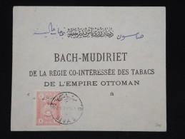 TURQUIE -ANATOLIE - Enveloppe De Sivas Pour La Régie Des Tabac - Aff. Plaisant - à Voir - Lot P8560 - 1920-21 Anatolië