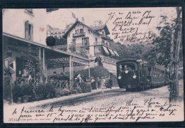 Caux, La Gare, Chemin De Fer Et Train (2715) - VD Vaud