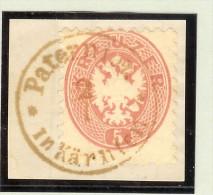 Heimat Österreich Kärnten Paternion In Kärnten 2/1 Braun Briefstück - 1850-1918 Imperium