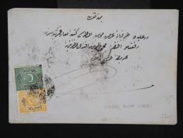 TURQUIE - Enveloppe En 1871 Et Taxée - Aff. Plaisant - Rare - à Voir - Lot P8571 - 1858-1921 Empire Ottoman