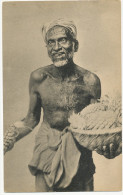172 Singhalese Old Man Ceylon Selling Pineapples  Ananas Platé's - Sri Lanka (Ceylon)