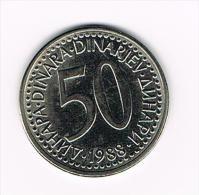 ***  JOEGOSLAVIE  50  DINARA  1988 - Yougoslavie