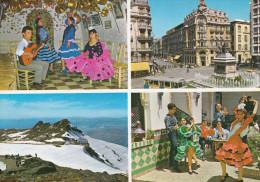 España--Granada--Vista De Sierra Nevada--Tipos Gitanos - Vestuarios