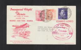 Primer Vuelo Madrid Nueva York 1954 - Luftpost