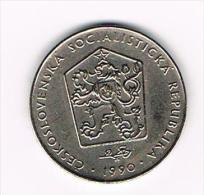 ***  TSJECHOSLOWAKIJE  2 KORUNY  1990 - Tchécoslovaquie