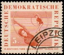 GERMAN DEMOCRATIC REPUBLIC - Scott #B44 The 3rd Gymnastics And Sports Festival In Leipzig / Used Stamp - Gymnastics