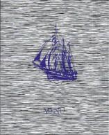 Carte Diner Du Commandant MENU Paquebot M/S MERMOZ Croisieres Paquet Illustration Bateau A Voiles - Menu