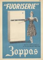 # ZOPPAS CONEGLIANO TREVISO FRIGORIFERI 1960s Advert  Publicitè Reklame Refrigerators Refrigerateurs Kuhlschranke - Publicité