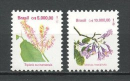 BRESIL 1992 N° 2095/2096 ** Neufs = MNH Superbes Cote 4,50 € Flore Fleurs Triplaris Tabebuia Flowers Flora - Brazil