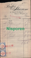 Note Du Buffet De La Gare De Vintimille Du 11 Août 1921 Gavazzi Et Broggini Prop. - Italie