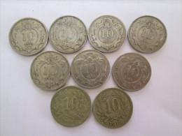 AUSTRIA Lot 9 X 10 Heller  1893 1894 1895 1907 1908 1909 1910  1915 1916 - Austria